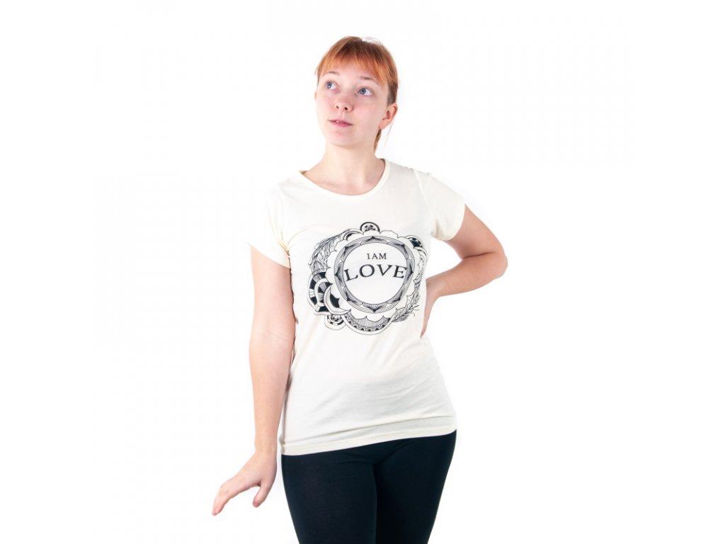 Tričko dámské LOVE L modrá