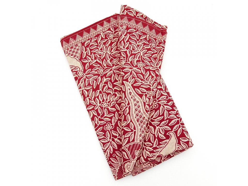 Přehoz Bali Karya červená