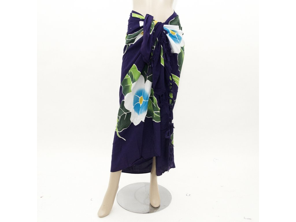 Pareo Květy fialová 01