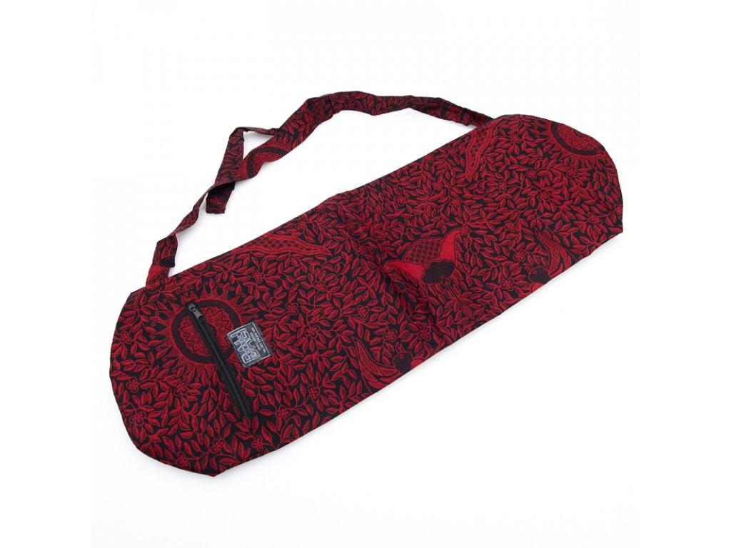 Yoga bag Leaves červená 01