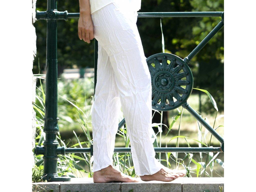 Kalhoty Yoga Bali bílá