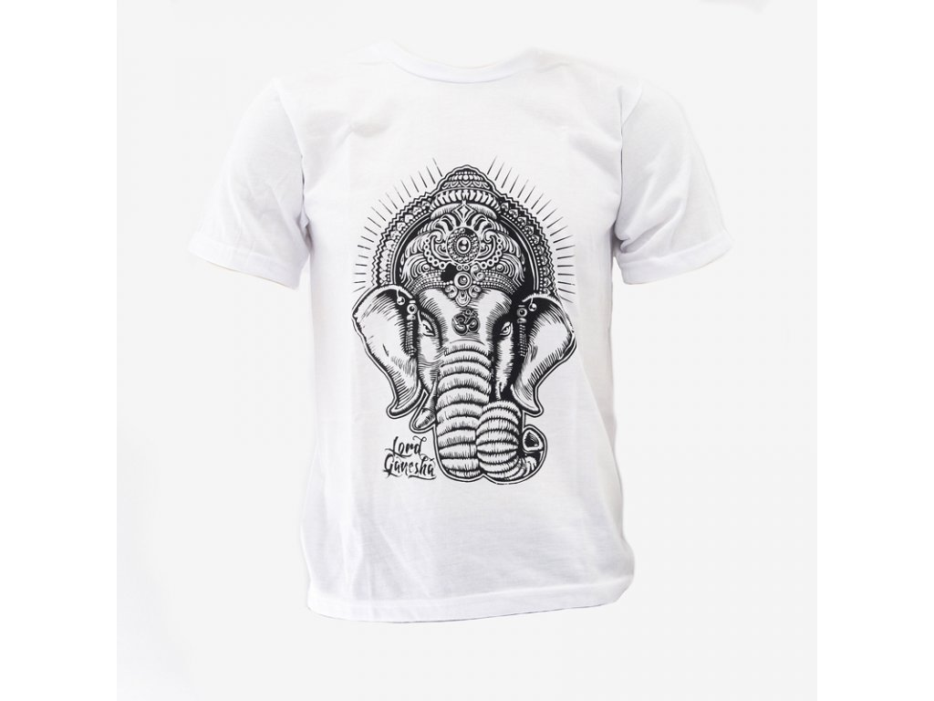 Tričko Bali Ganesha bílá L