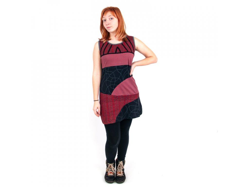 Šaty Joy 11 M šedočervená