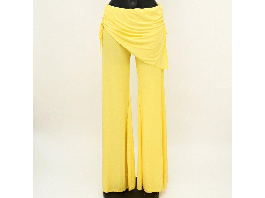Kalhoty na orientální tanec Kartek M Žlutá