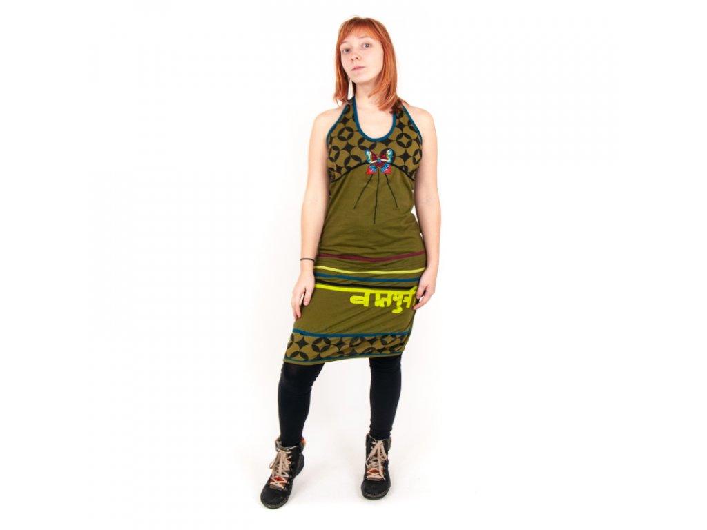 Šaty krátké Asja M zelená světlá
