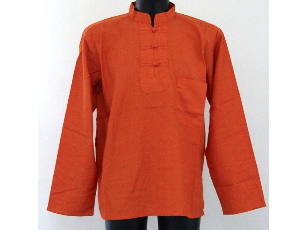 Košile kurta Teodor M oranžová