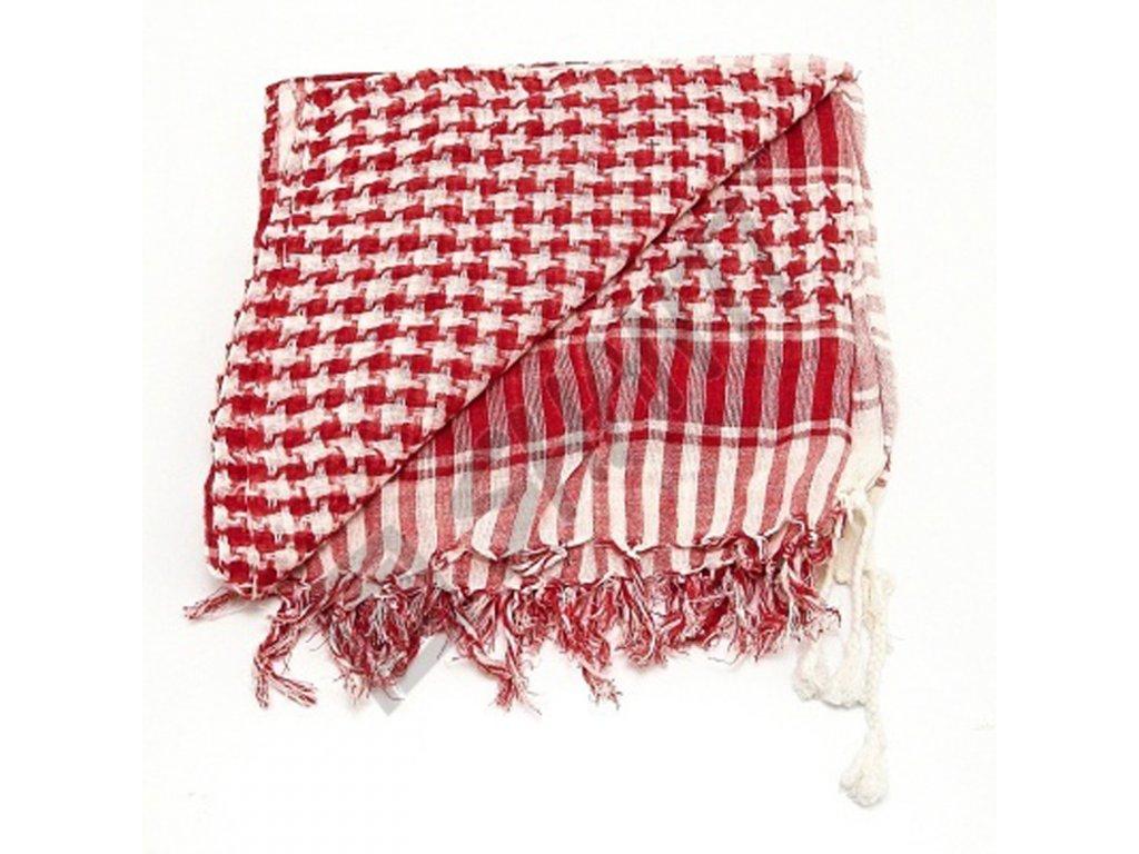 Šátek palestina arafat bílo červená