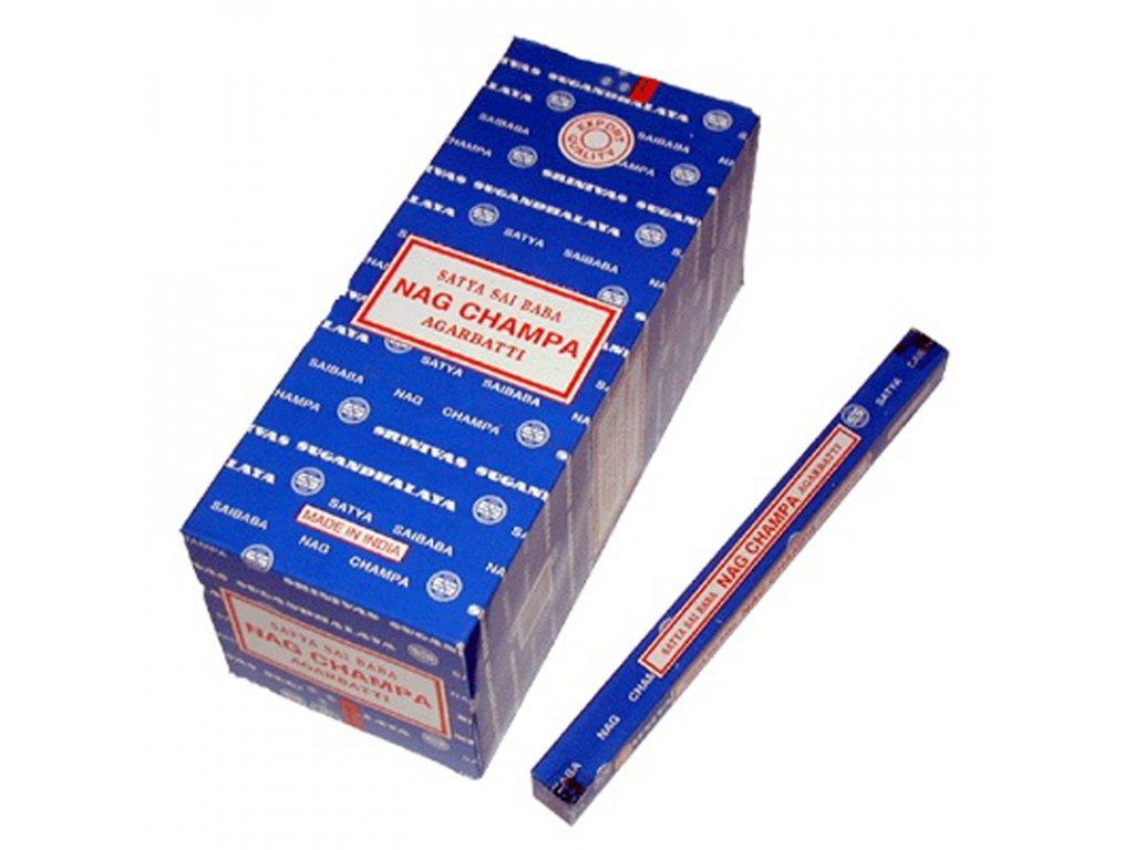 Indické vonné tyčinky Satya Nag Champa 10 g