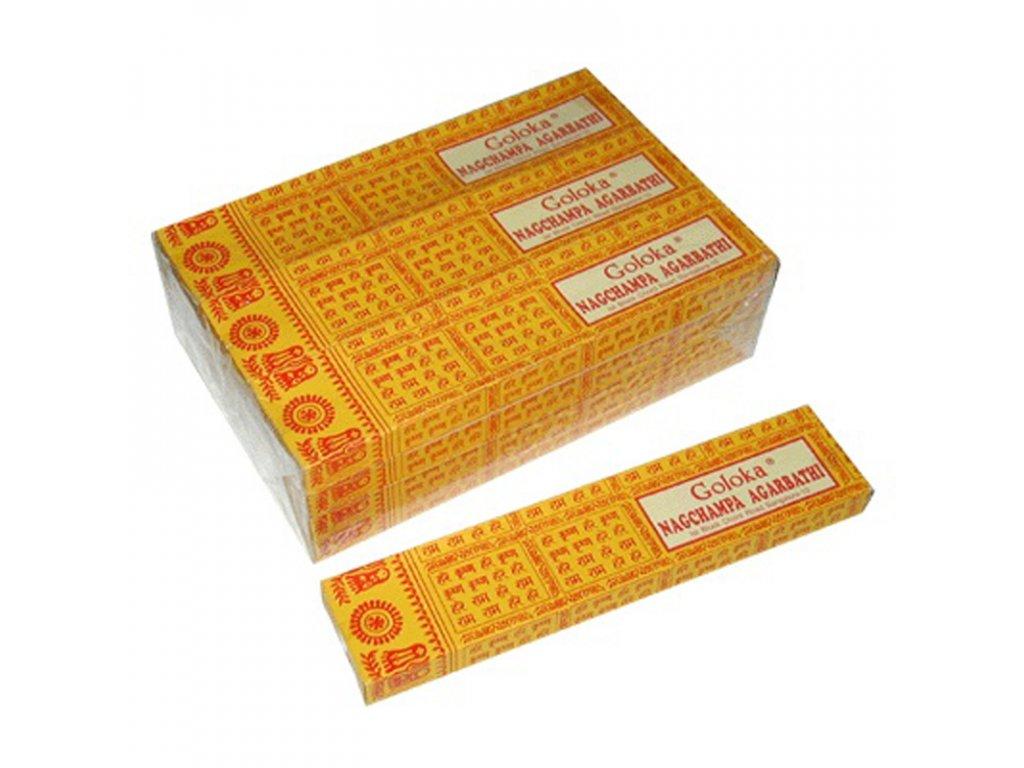 Indické vonné tyčinky Goloka Nag Champa 16 g