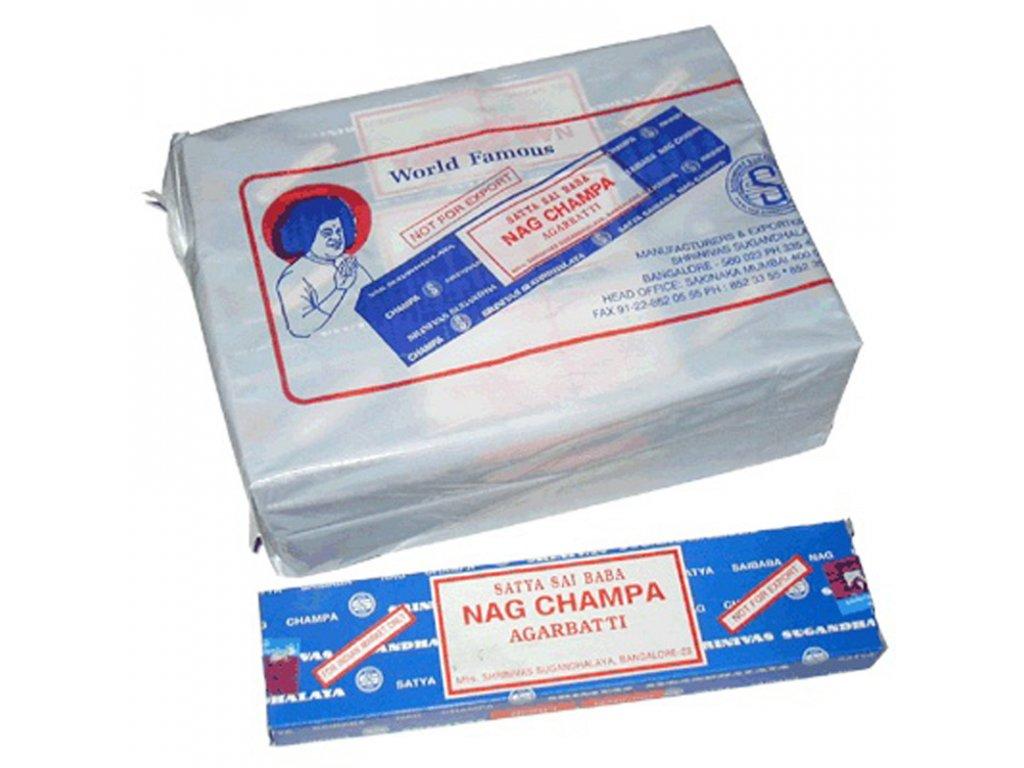 Indické vonné tyčinky Satya Nag Champa 15 g
