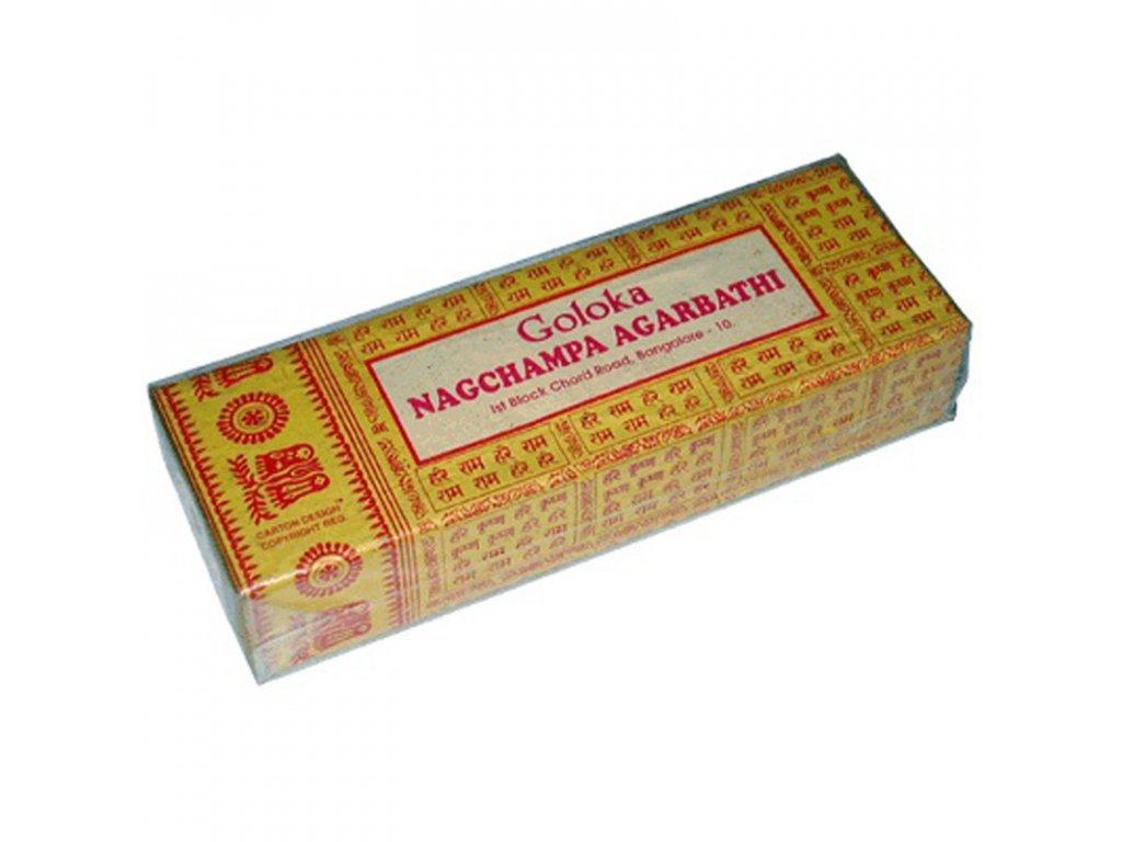Indické vonné tyčinky Goloka Nag Champa 250 g