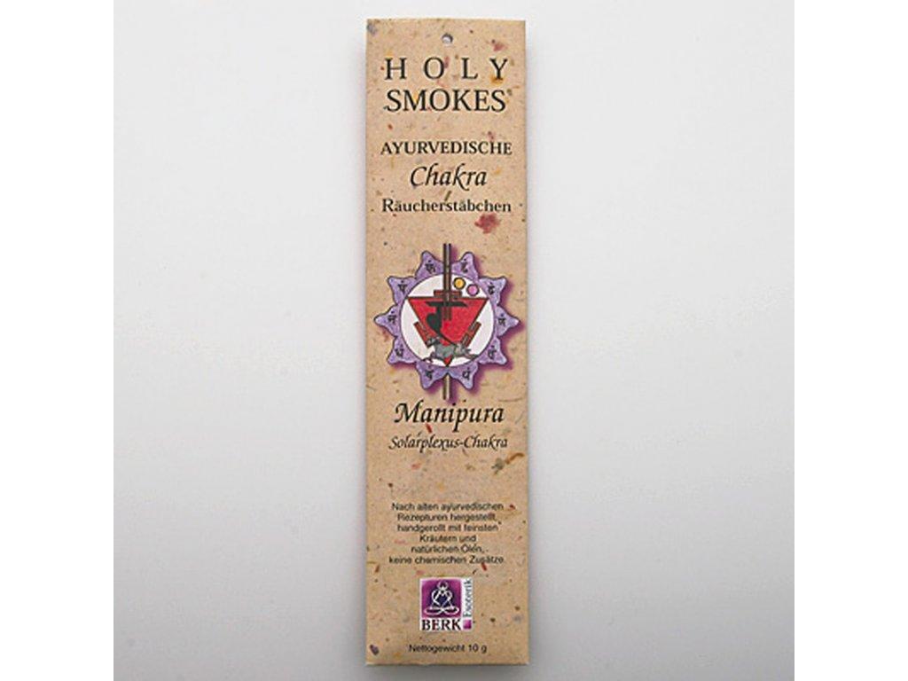 Čakrové tyčinky Holy Smokes Chakra 3 Manipura