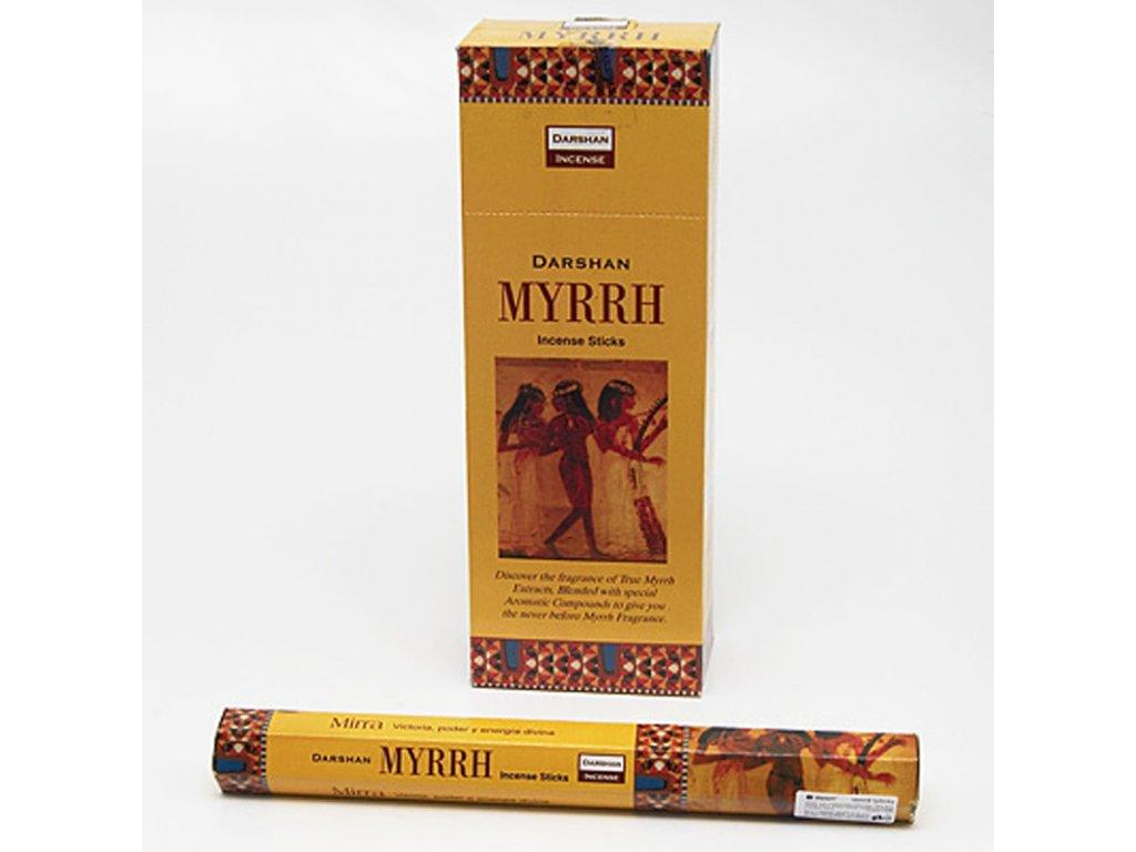 Indické vonné tyčinky Darshan Myrrh