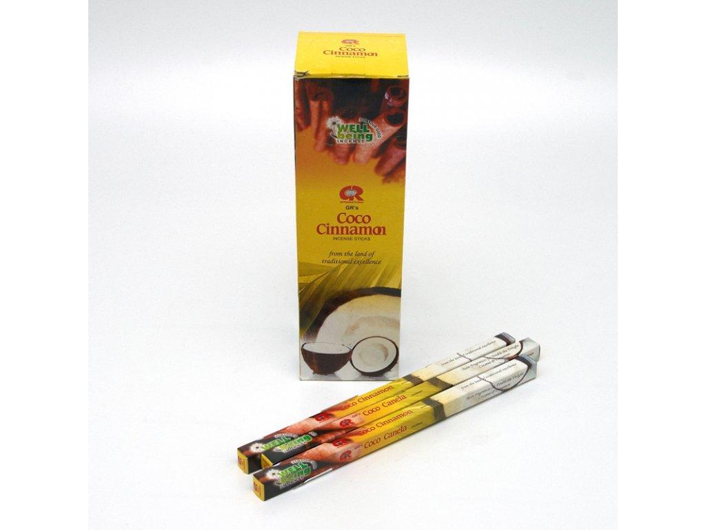 Indické vonné tyčinky GR SQ Coco Cinnamon