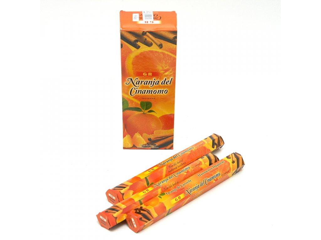 Indické vonné tyčinky GR HX Cinnamon Orange