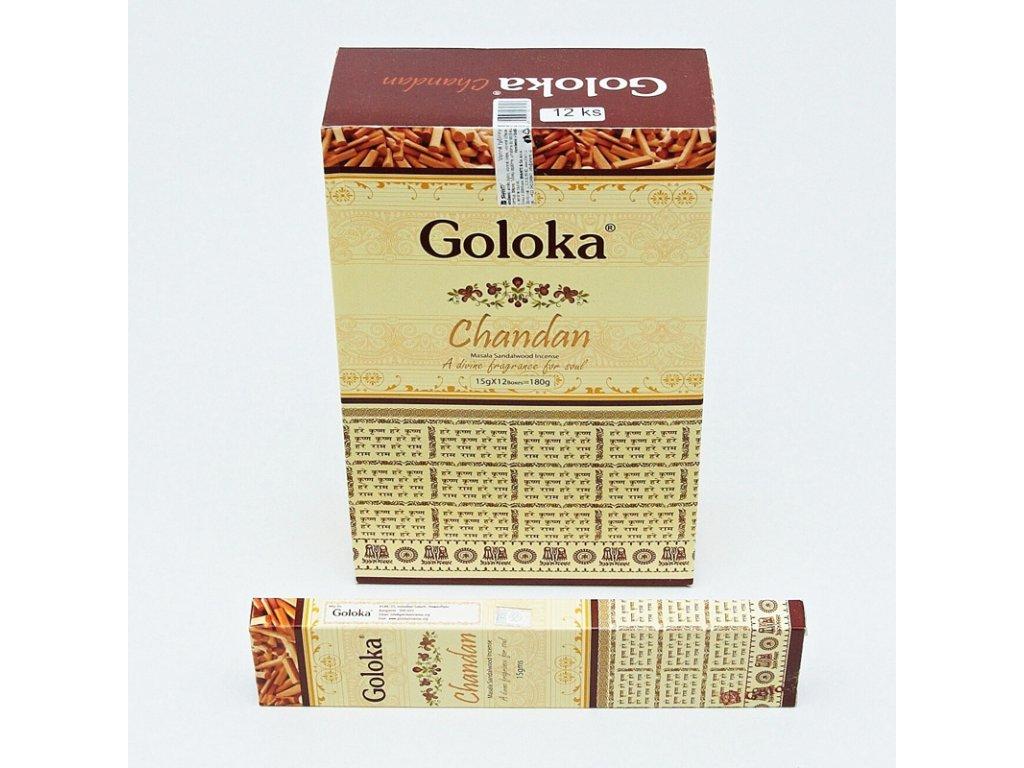 Indické vonné tyčinky Goloka Masala Chandan 15 g