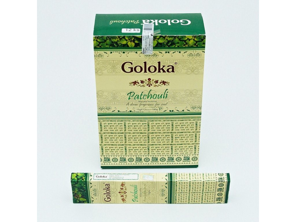 Indické vonné tyčinky Goloka Masala Patchouli 15 g