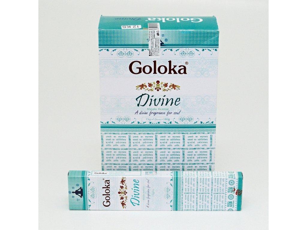 Indické vonné tyčinky Goloka Masala Divine 15 g
