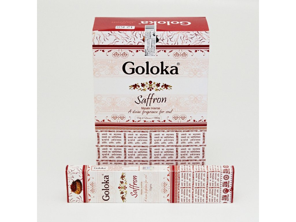 Indické vonné tyčinky Goloka Masala Saffron 15 g