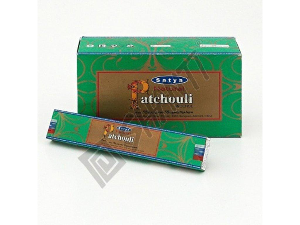 Indické vonné tyčinky Satya PK Natural Patchouli 15 g