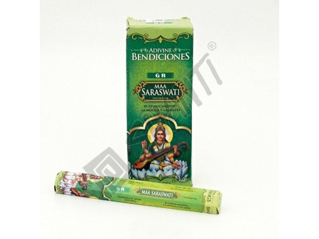 Indické vonné tyčinky GR HX Blessings Maa Saraswati