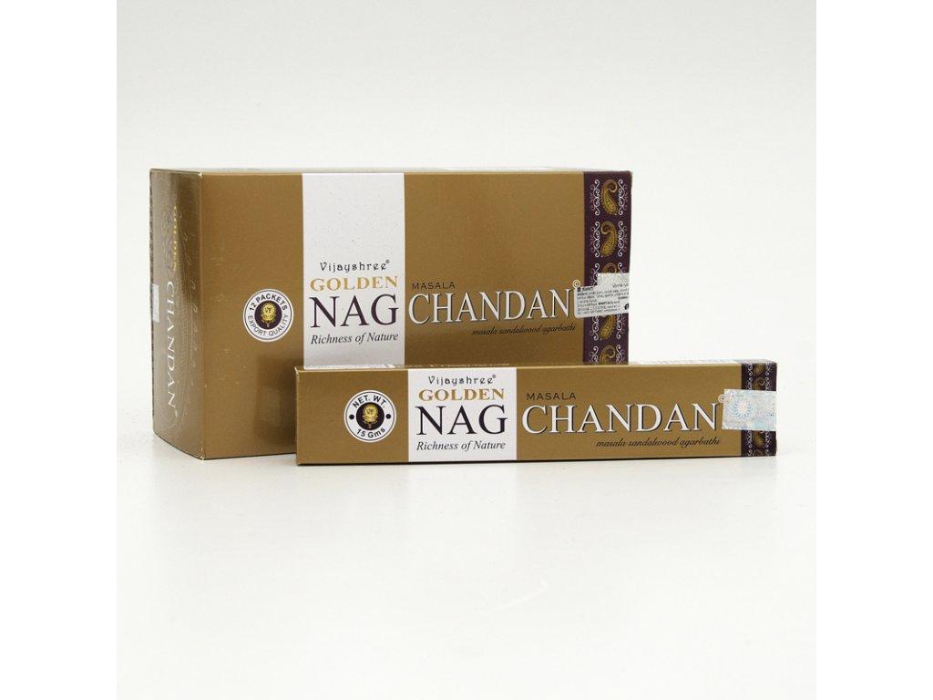 Indické vonné tyčinky Vijayshree Golden Nag Chandan