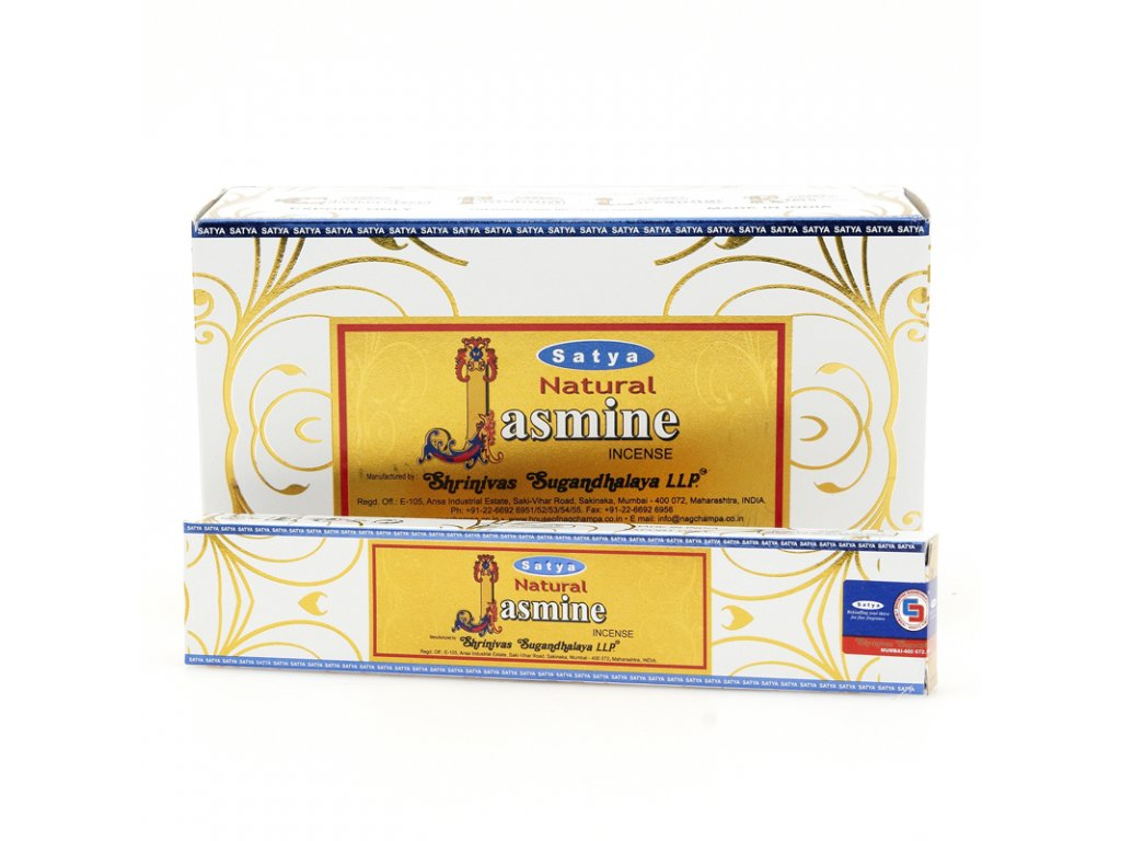 Indické vonné tyčinky Satya PK Natural Jasmine 15 g