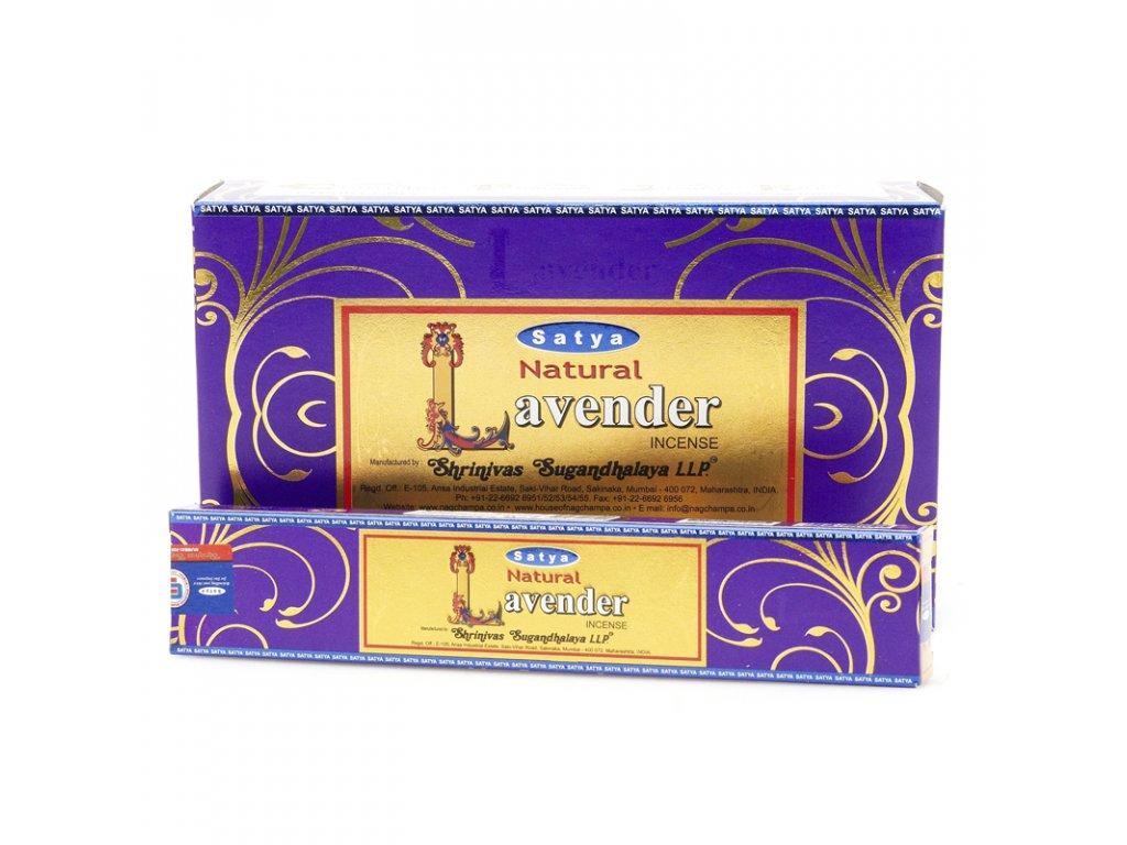 Indické vonné tyčinky Satya PK Natural Lavender 15 g