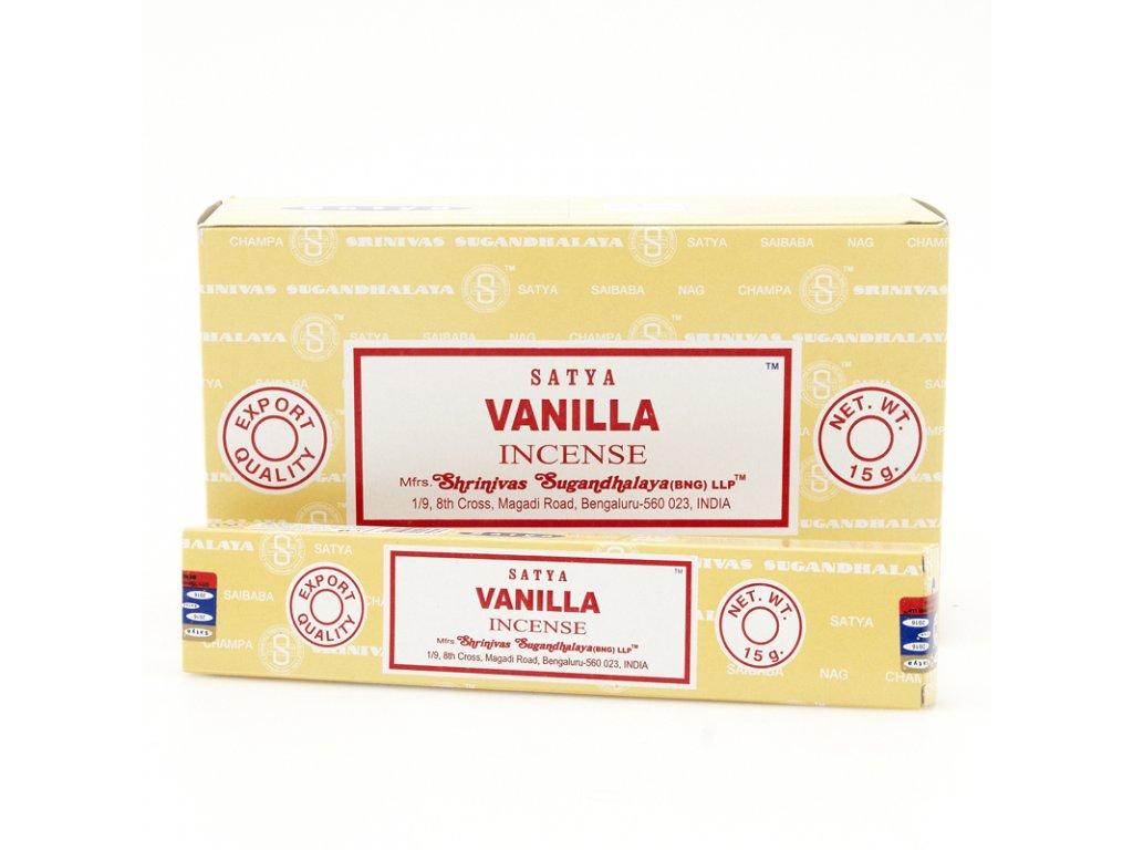 Indické vonné tyčinky Satya PK Vanilla 15 g
