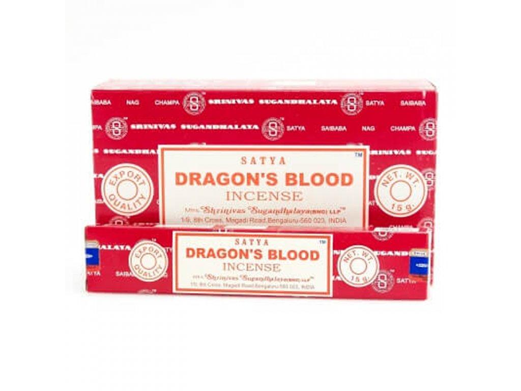 Indické vonné tyčinky Satya PK Dragon Blood 15 g