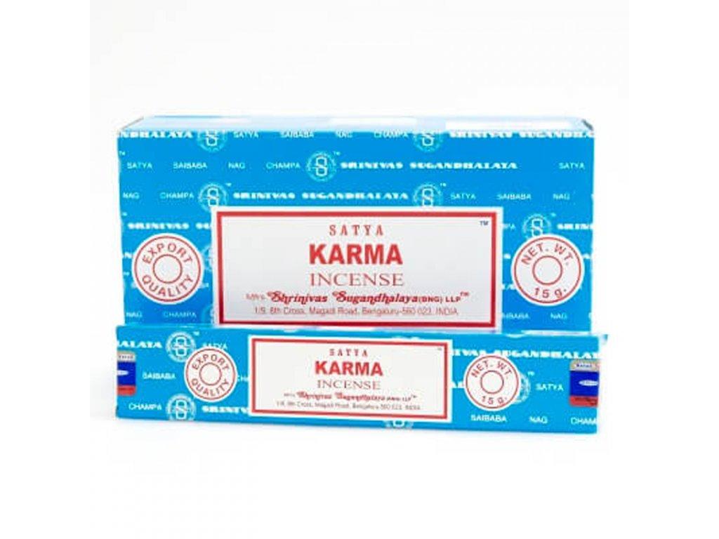 Indické vonné tyčinky Satya PK Karma 15 g