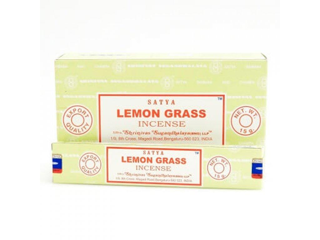 Indické vonné tyčinky Satya PK Lemongrass 15 g