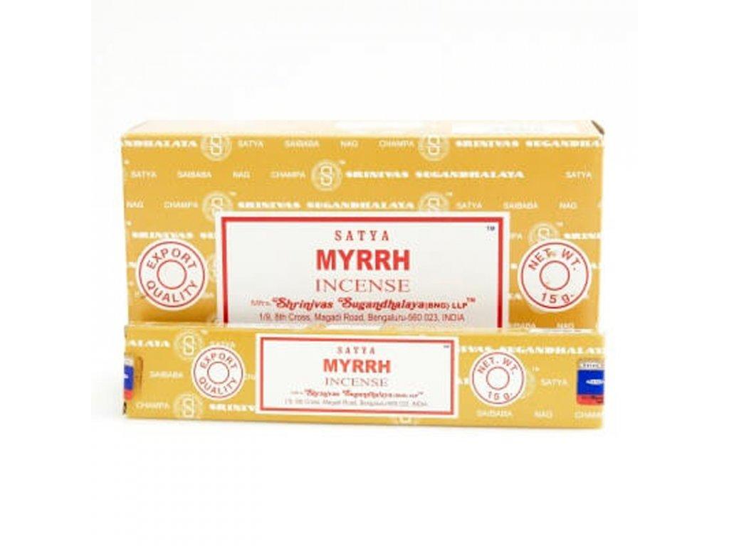 Indické vonné tyčinky Satya PK Myrrh 15 g