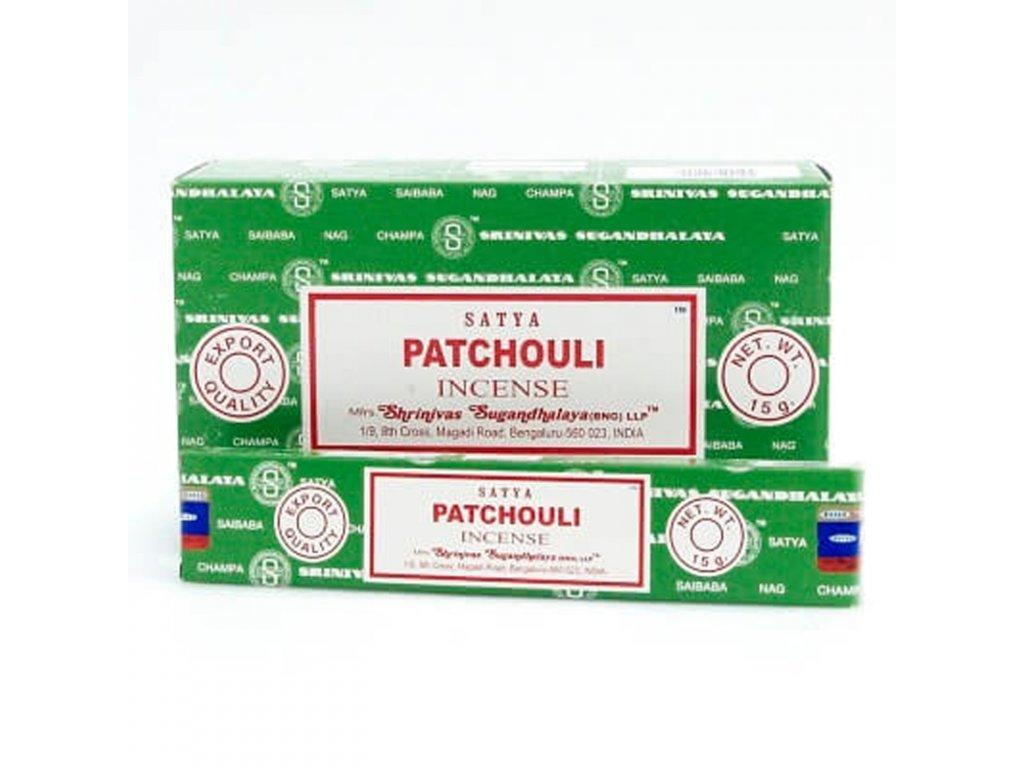 Indické vonné tyčinky Satya PK Patchouli 15 g