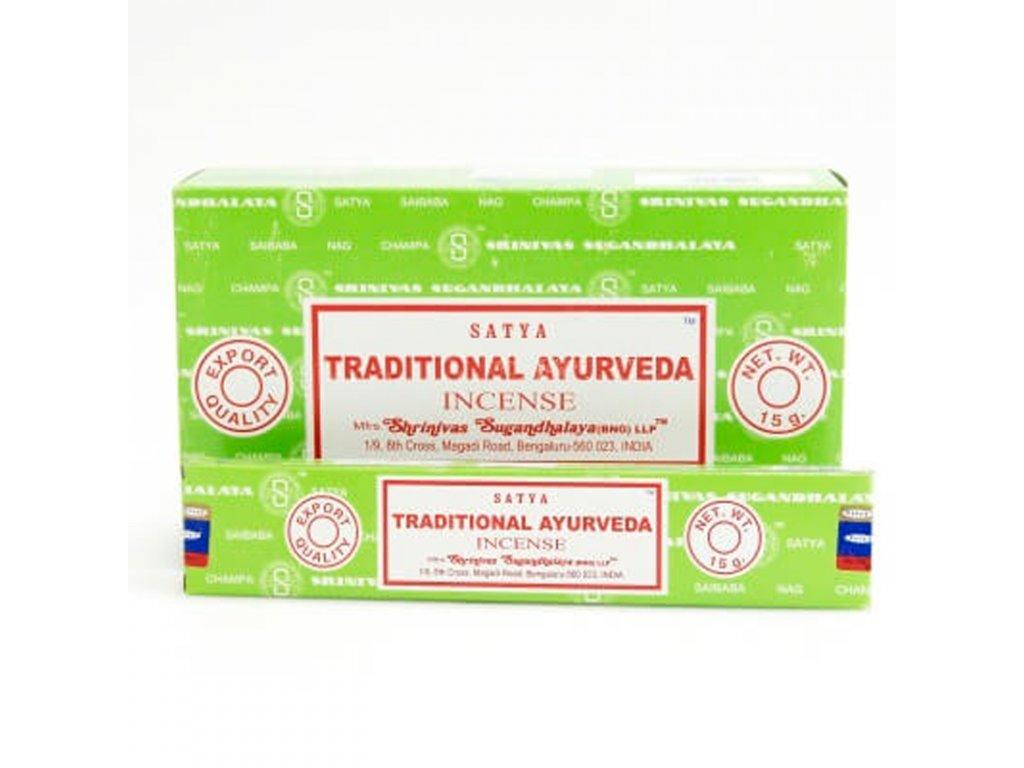 Indické vonné tyčinky Satya PK Traditional Ayurveda 15 g