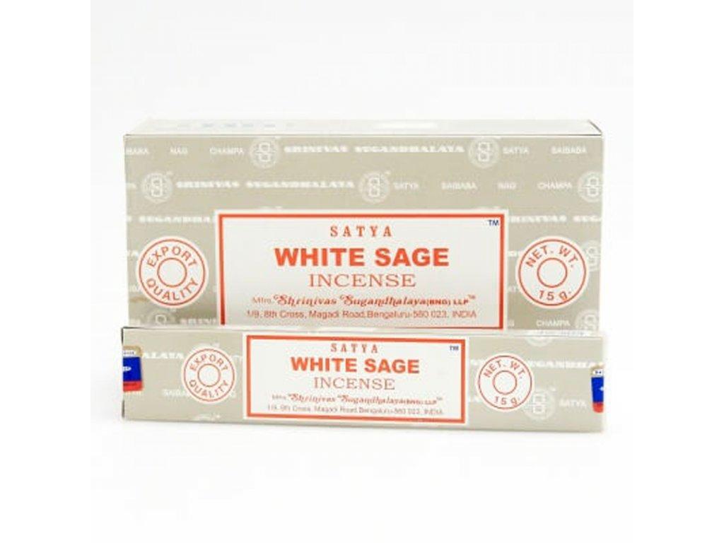 Indické vonné tyčinky Satya PK White Sage 15 g