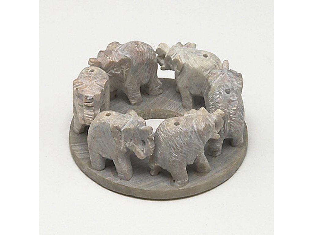 Stojánek na vonné tyčinky - kámen slon