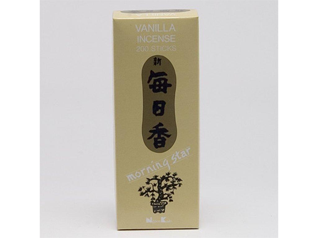 Japonské vonné tyčinky Nippon M/S 200 ks Vanilla
