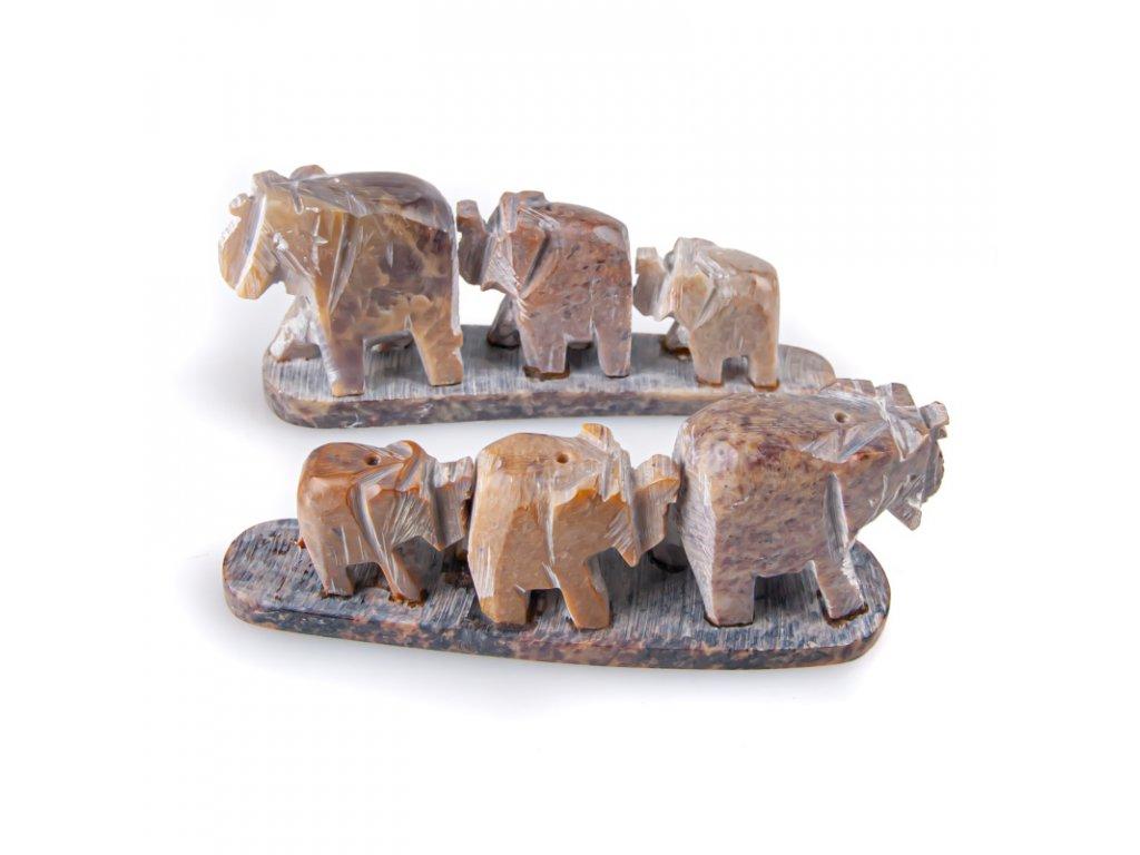 Stojánek na vonné tyčinky - kámen slon 3x