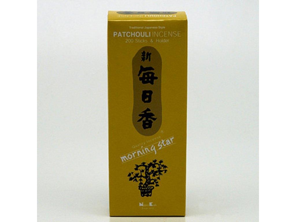 Japonské vonné tyčinky Nippon M/S 200 ks Patchouli