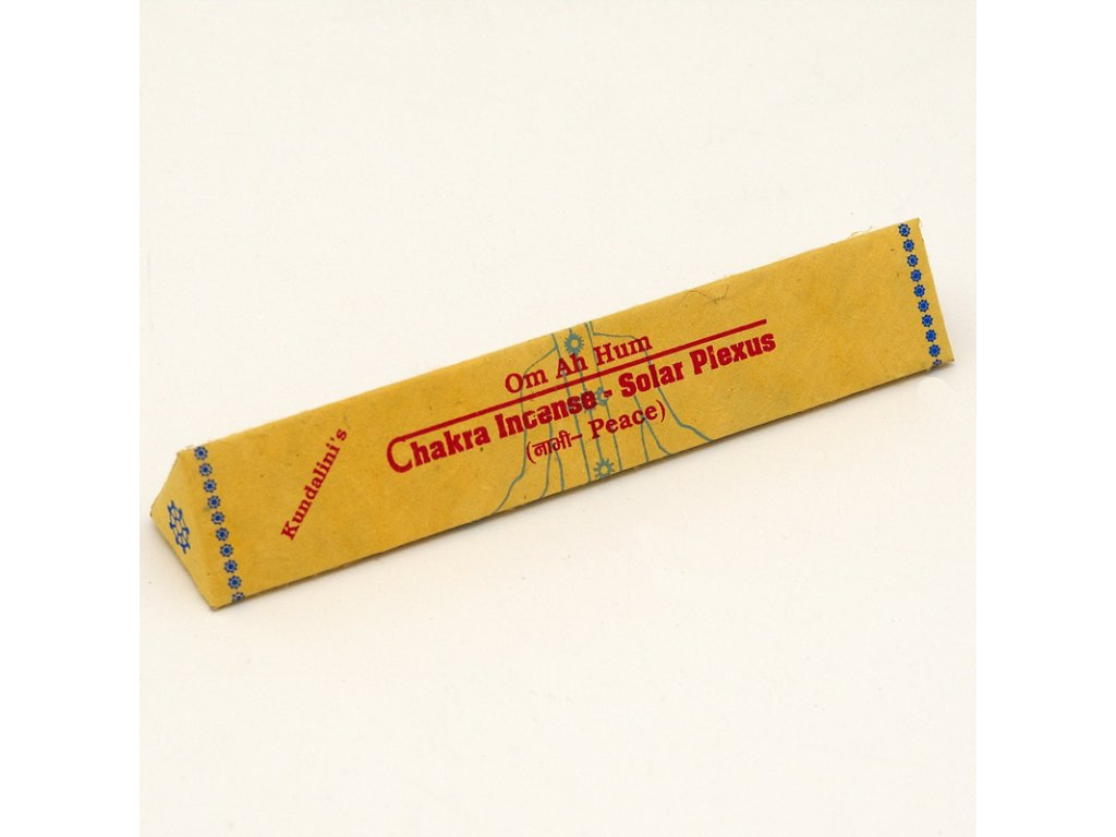 Tibetské vonné tyčinky Chakra Incense - Solar Plexus