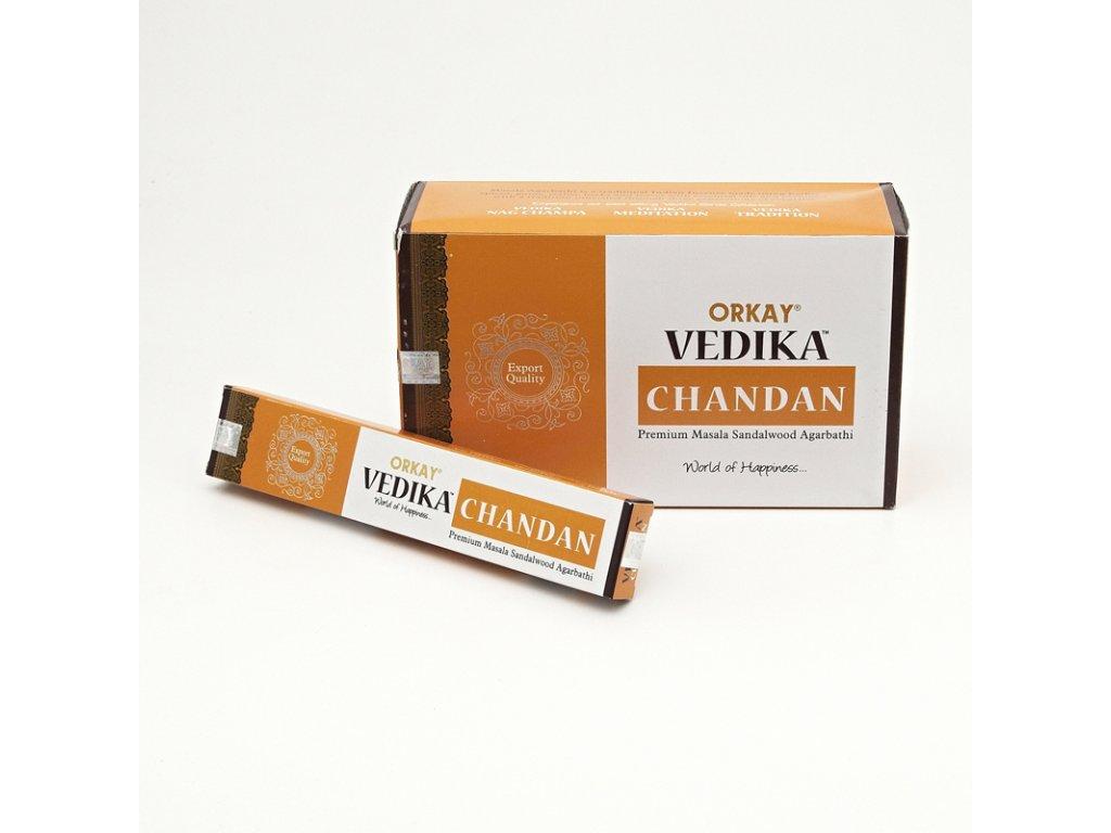 Indické vonné tyčinky Orkay Vedika Chandan