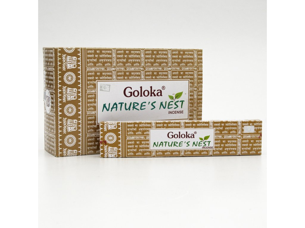 Indické vonné tyčinky Goloka Nature's Nest 15 g