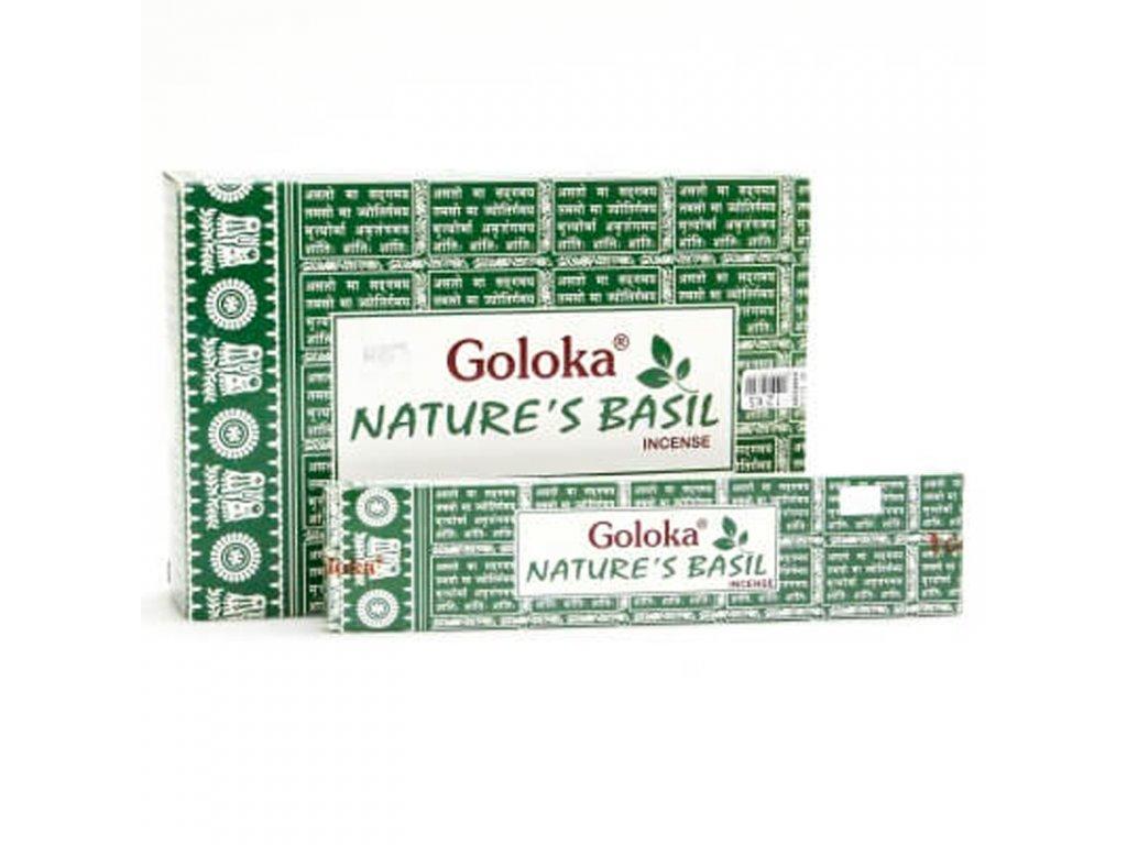 Indické vonné tyčinky Goloka Basil 15 g