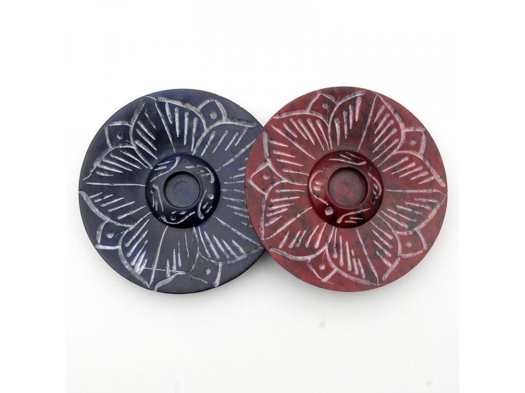 Stojánek na vonné tyčinky - kámen lotos barevný