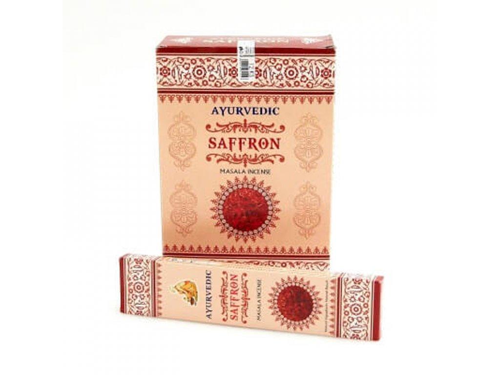 Indické vonné tyčinky Ayurvedic Saffron