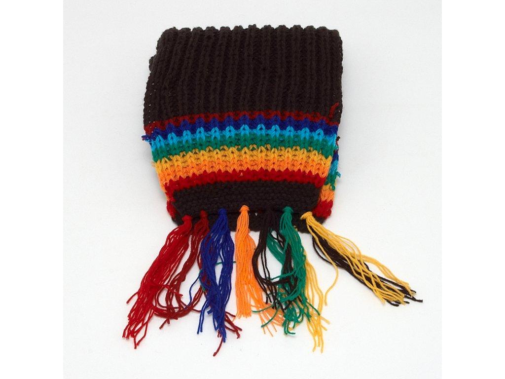 Šála pletená Rainbow