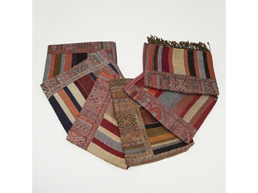 Šála pestrobarevná s perským vzorem MIX