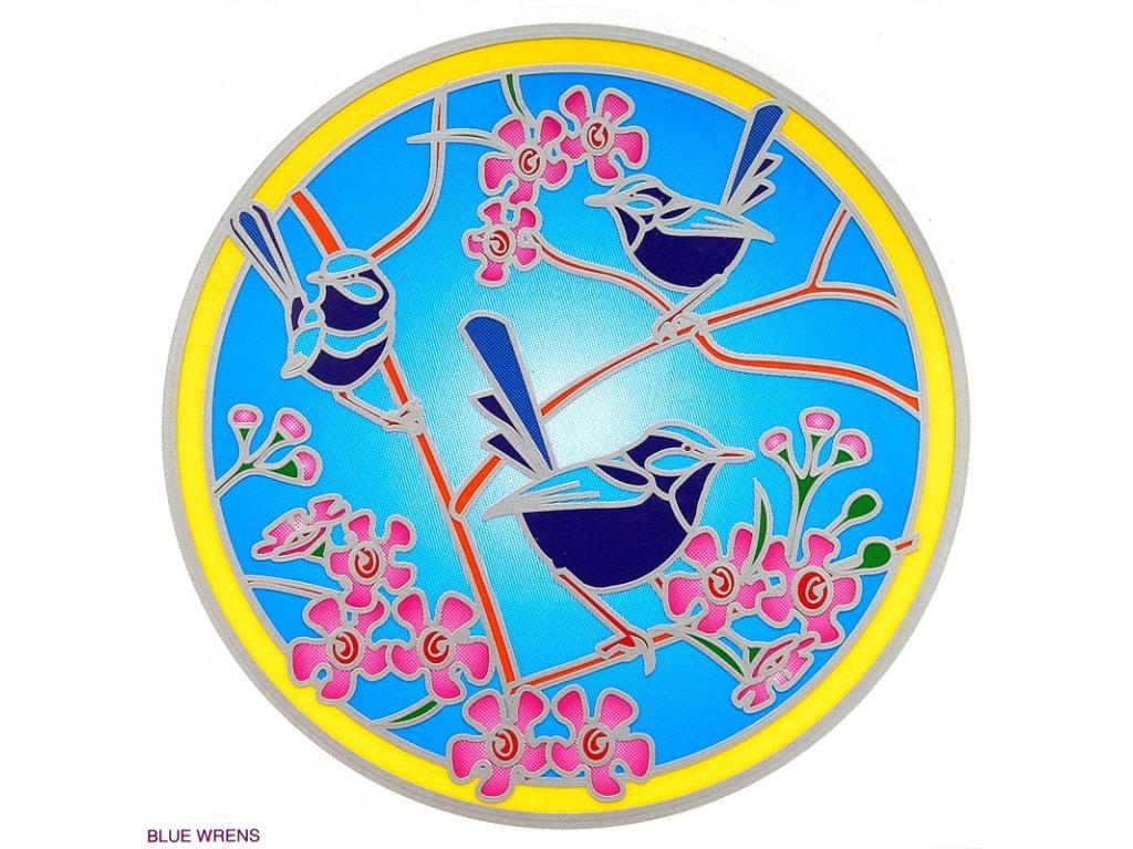 Mandala Sunseal V Blue Wren