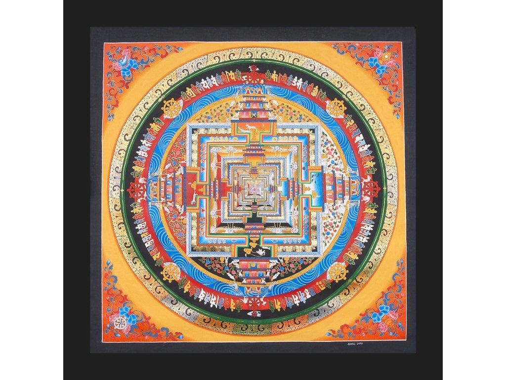 Mandala Thanka Kalachakra, 69x69 cm, typ I.